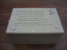 Shabby Personalised Chic Jewellery / Memory Box.. Gift for the Bride/ Wedding